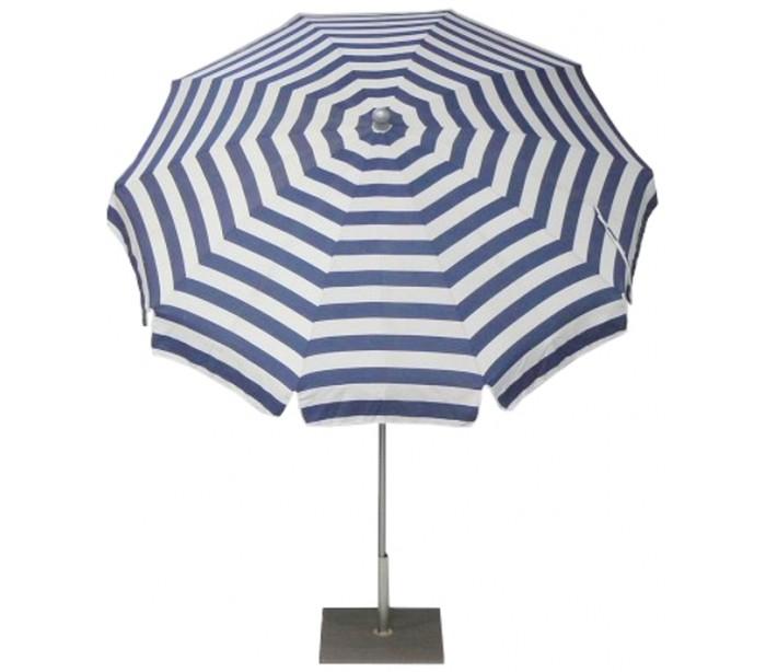 Maffei inox parasol i dralon og stål ø200 cm - hvid/blå fra maffei på lepong.dk