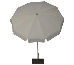 Maffei Inox parasol i dralon og stål Ø200 cm - Taupe