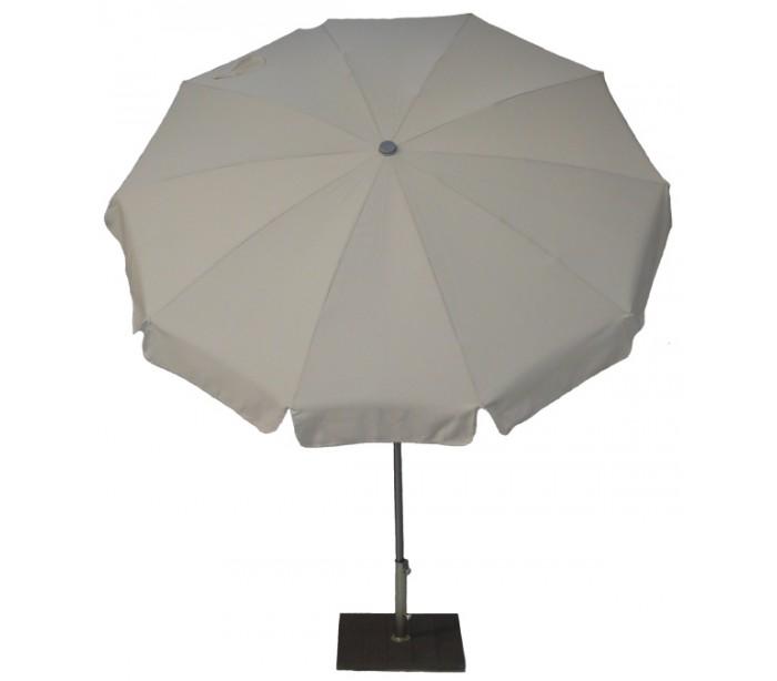 maffei Maffei inox parasol i dralon og stål ø200 cm - taupe på lepong.dk
