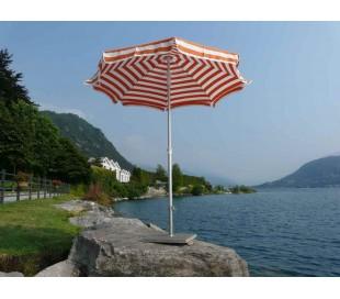Maffei Superalux parasol i dralon og aluminium Ø200 cm - Hvid/Orange