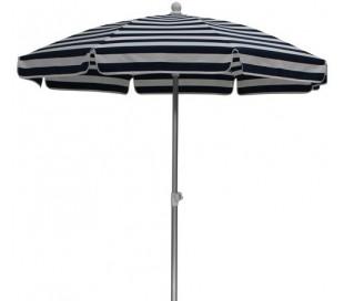 Maffei Superalux parasol i dralon og aluminium Ø200 cm - Hvid/Blå