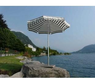 Maffei Superalux parasol i dralon og aluminium Ø200 cm - Hvid/Taupe