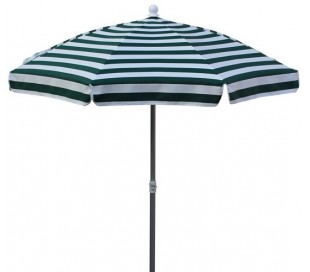 Maffei Superalux parasol i dralon og aluminium Ø200 cm - Hvid/Grøn