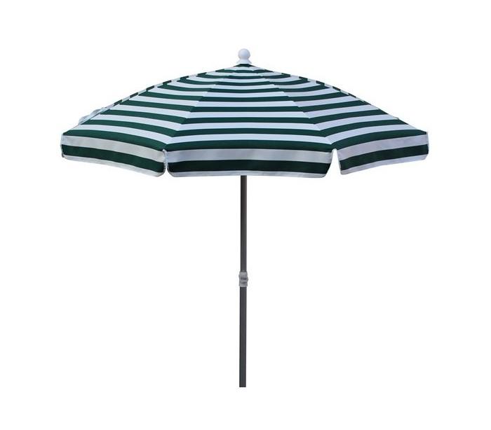 Maffei superalux parasol i dralon og aluminium ø200 cm - hvid/grøn fra maffei på lepong.dk
