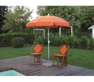 Maffei Superalux parasol i dralon og aluminium Ø200 cm - Orange