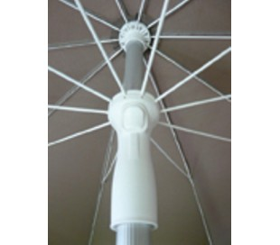 Maffei Superalux parasol i dralon og aluminium Ø200 cm - Natur