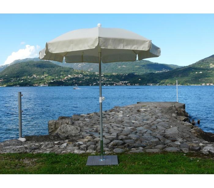 Maffei superalux parasol i dralon og aluminium ø200 cm - natur fra maffei på lepong.dk