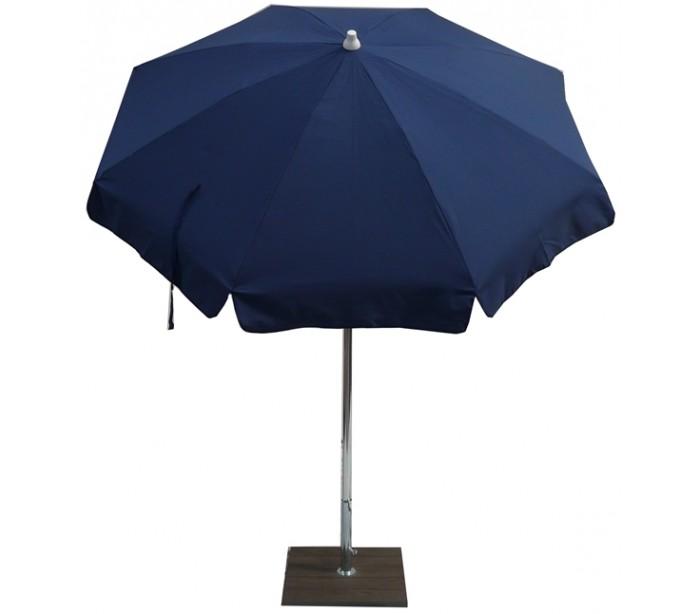 maffei Maffei alux parasol i polyester og aluminium ø200 cm - blå på lepong.dk
