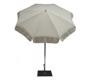 Maffei Alux parasol i polyester og aluminium Ø200 cm - Natur
