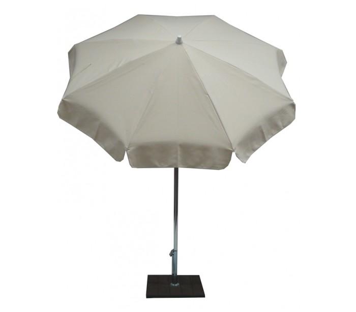 maffei Maffei alux parasol i polyester og aluminium ø200 cm - natur på lepong.dk