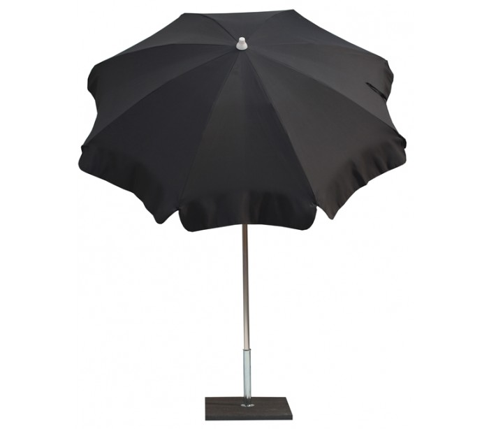 Maffei alux parasol i polyester og aluminium ø200 cm - antracit fra maffei på lepong.dk