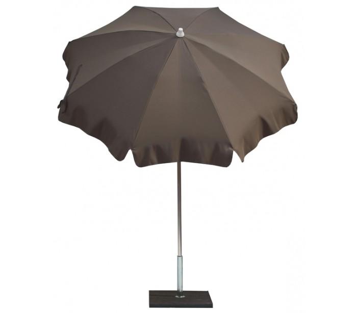 maffei – Maffei alux parasol i polyester og aluminium ø200 cm - taupe fra lepong.dk