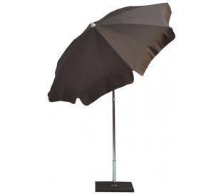 Maffei Alux parasol i polyester og aluminium Ø200 cm - Taupe