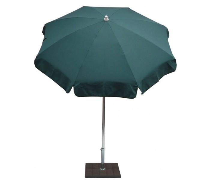 maffei Maffei alux parasol i polyester og aluminium ø200 cm - grøn på lepong.dk