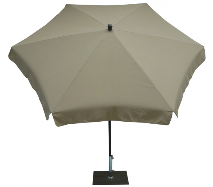 Maffei mare parasol i polyester og stål ø250 cm - taupe fra maffei på lepong.dk