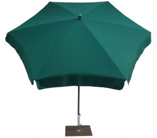 Maffei Mare parasol i polyester og stål Ø250 cm - Grøn