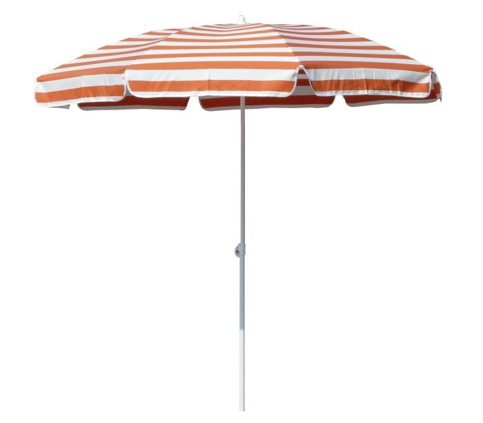 Maffei mare parasol i dralon og stål ø200 cm - hvid/orange fra maffei på lepong.dk