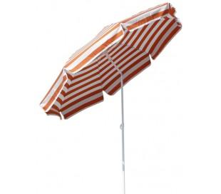 Maffei Mare parasol i dralon og stål Ø200 cm - Hvid/Orange
