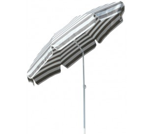 Maffei Mare parasol i dralon og stål Ø200 cm - Hvid/Taupe