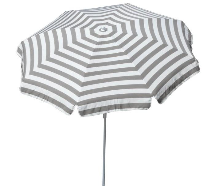 Maffei mare parasol i dralon og stål ø200 cm - hvid/taupe fra maffei fra lepong.dk