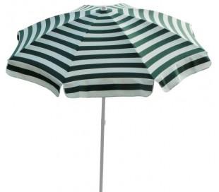 Maffei Mare parasol i dralon og stål Ø200 cm - Hvid/Grøn