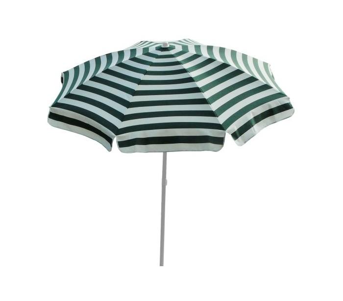 maffei – Maffei mare parasol i dralon og stål ø200 cm - hvid/grøn fra lepong.dk
