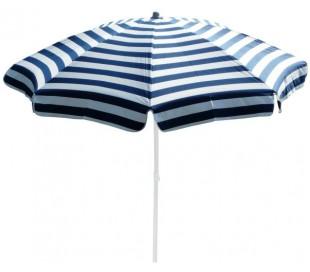 Maffei Mare parasol i dralon og stål Ø200 cm - Hvid/Blå