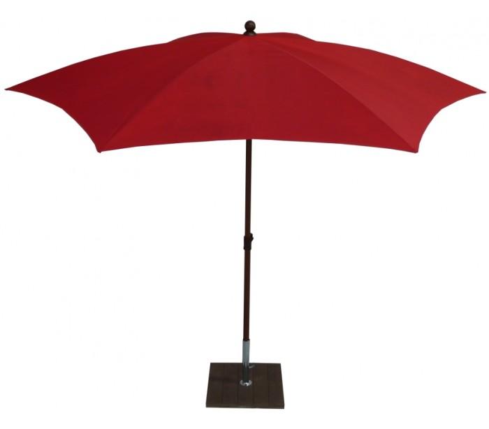 maffei – Maffei madera parasol i polyester og aluminium ø280 cm - rød fra lepong.dk