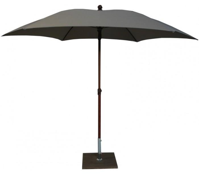Maffei madera parasol i polyester og aluminium ø280 cm - taupe fra maffei på lepong.dk