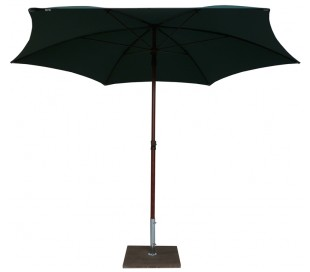 Maffei Madera parasol i polyester og aluminium Ø280 cm - Grøn