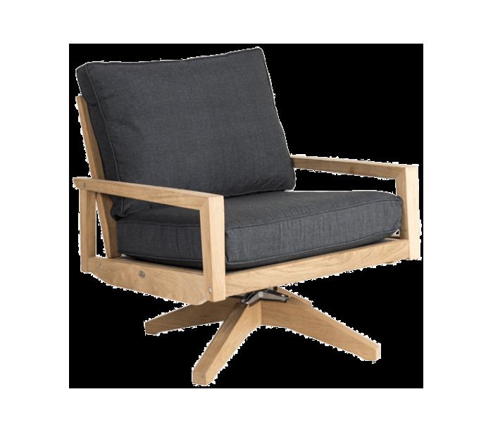 Roble rotérbar lounge havestol i træ h88 cm - natur/charcoal fra där lighting på lepong.dk
