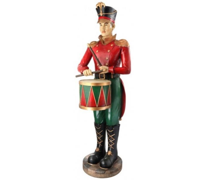 Soldat i polyresin og fiberglas h168 cm - antik rød/antik grøn fra där lighting fra lepong.dk