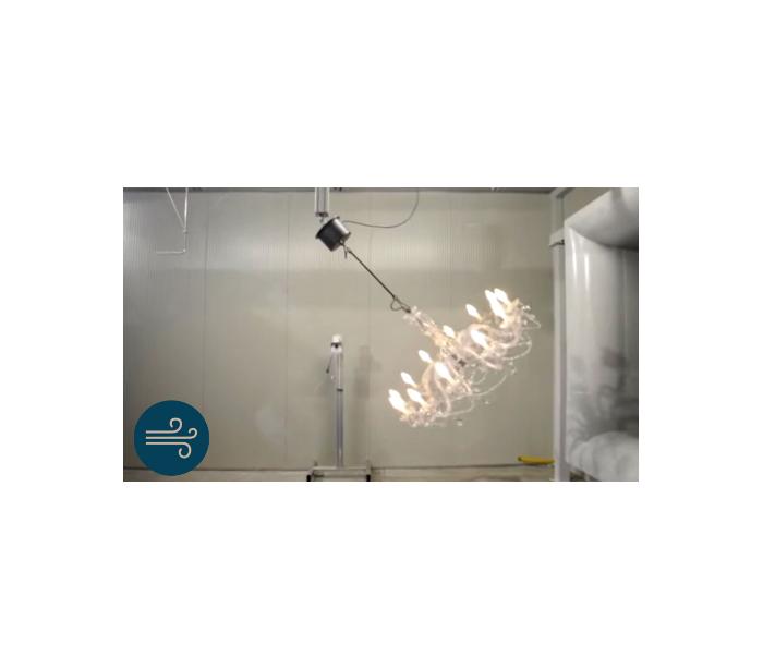 DRYLIGHT S12 Udendørs lysekrone Ø106 cm 36W LED Klar