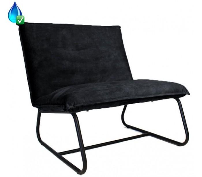 där lighting – Paris lænestol i velour h83 cm - sort/antracit på lepong.dk