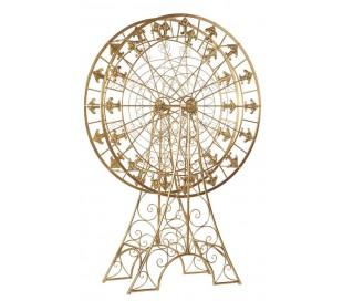 Pariserhjul i metal H220 cm - Antik guld