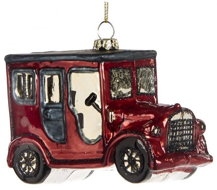 selected by lepong Oldtimer ophæng i glas h10 cm - antik rød fra lepong.dk