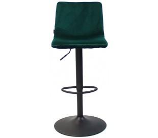 Frenkie Barstol i velour H90 - 110 cm - Sort/Grøn