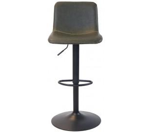 Tex Barstol i øko-læder H88 - 110 cm - Sort/Olivengrøn