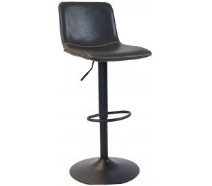 Tex Barstol i øko-læder H88 - 110 cm - Sort/Antracit