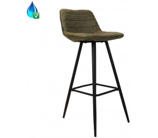 Jackson Barstol i øko-læder H101 cm - Sort/Olivengrøn