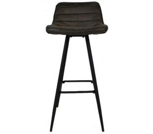Jackson Barstol i øko-læder H101 cm - Sort/Antracit