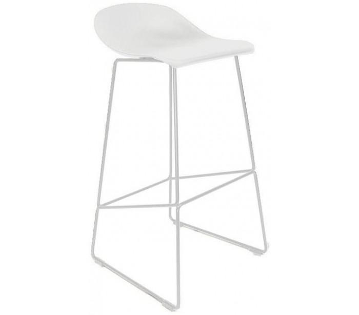 Erica barstol i polypropylen h89 cm - hvid/hvid fra jesper home på lepong.dk