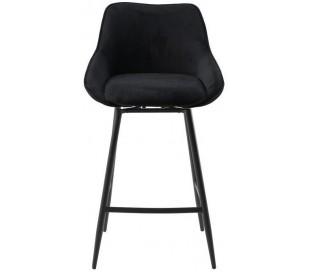 Luna rotérbar barstol i ripcurl H96 cm - Sort/Sort