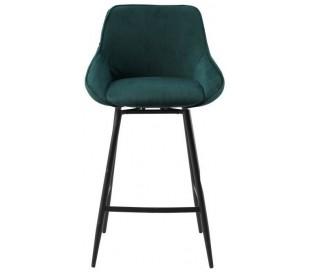 Luna rotérbar barstol i ripcurl H96 cm - Sort/Mørkegrøn