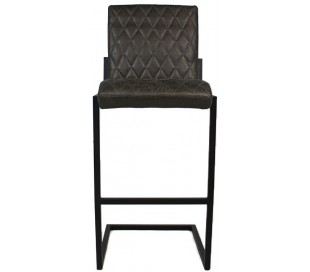 Diamond Barstol i øko-læder H113 cm - Sort/Antracit