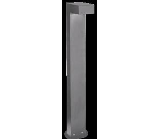 SIRIO Bedlampe i aluminium og glas H80 cm 2 x G9 - Grå/Klar
