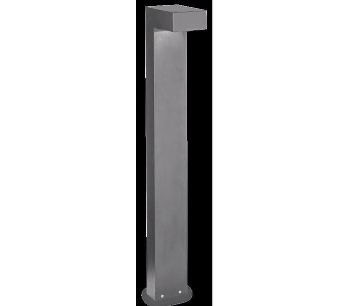 Sirio bedlampe i aluminium og glas h80 cm 2 x g9 - grå/klar fra selected by lepong på lepong.dk