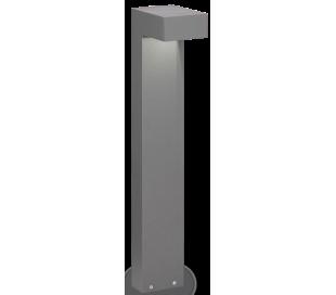 SIRIO Bedlampe i aluminium og glas H60 cm 2 x G9 - Grå/Klar
