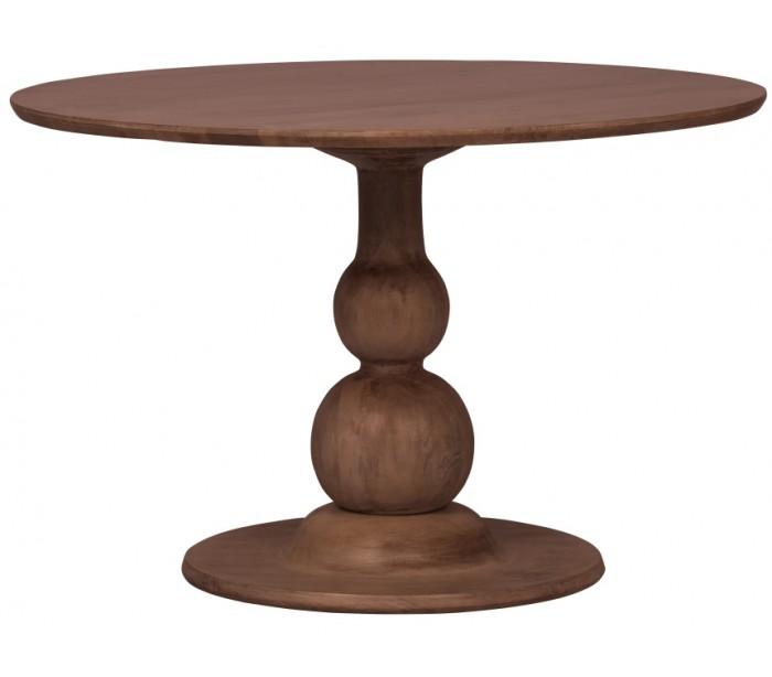 Rundt spisebord i mangotræ h75 x ø120 cm - valnød fra selected by lepong på lepong.dk