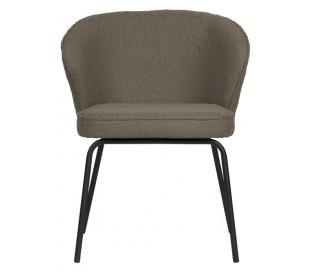 2 x Spisebordsstole i polyester H77 cm - Nougat